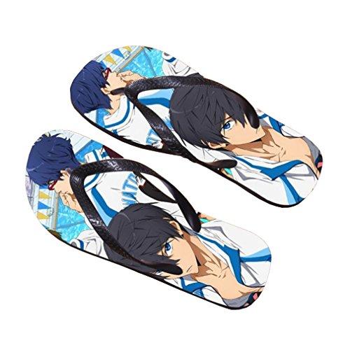 Bromeo Free! Anime Unisex Flip Flops Chanclas 404