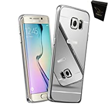 CGJY High Quality Aluminum Metal Frame Plating Mirror with CGJY the Dust plug capacitive pen for Samsung Galaxy Note 4 Case + 1 Clear Screen Protector Phone Bags Sliver