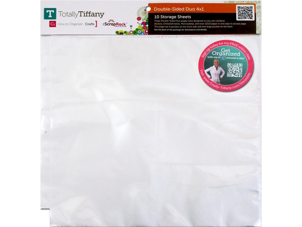 Totally-Tiffany SS Dbl 10pc ScrapRack Double Sided Duo 4x1