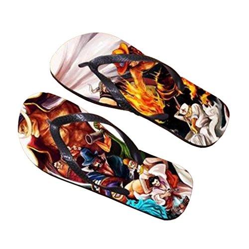 Bromeo One Piece Anime Unisex Flip Flops Chanclas 383