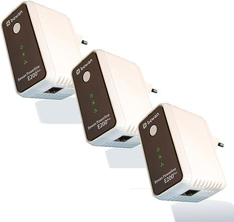 Bewan E200P Trio - Conjunto de 3 Adaptadores PLC (200 MB/s): Amazon.es: Informática