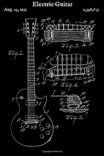 Electric Guitar Tab Paper - Blank Sheet Music Guitar Tabs Book (Blank Guitar Tabs) [Music, Guitar Tab] (Tapa Blanda)