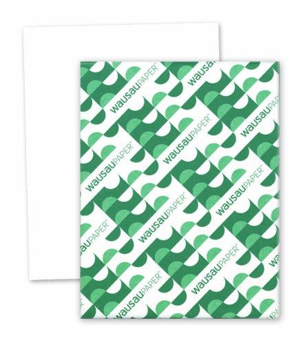 Wausau Vellum Bristol Cardstock, 92 Brightness, 67 lb, 8.5 x 11 Inches, White, 250 Sheets (82211)
