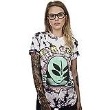 CORIRESHA Coli&Tori Street Style UFO Alien 3D Digital Print T-Shirt,Far Out,Medium