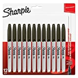 Sharpie Permanent Markers, Fine Tip Pack of 12