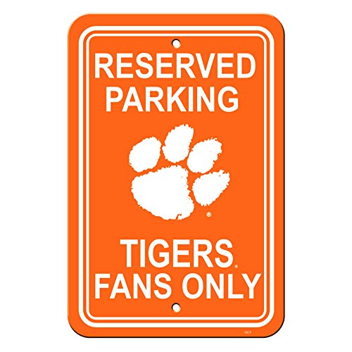 Official National Collegiate Athletic Association Fan Shop Authentic NCAA Parking Sign (Clemson Tigers)