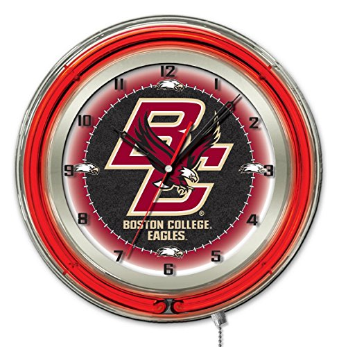 - Boston College Eagles HBS Neon Red College Battery Powered Wall Clock (19