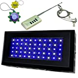 HQRP Remote Controler Dimmable Bright LED Aquarium Coral Reef Fish Light Panel with simulation Sunset / Sunrise, 165W Blue / White LED + UV Meter