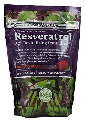Collagen Enhancer - ResVitale Resveratrol - Bordeaux Berry 30 Chews