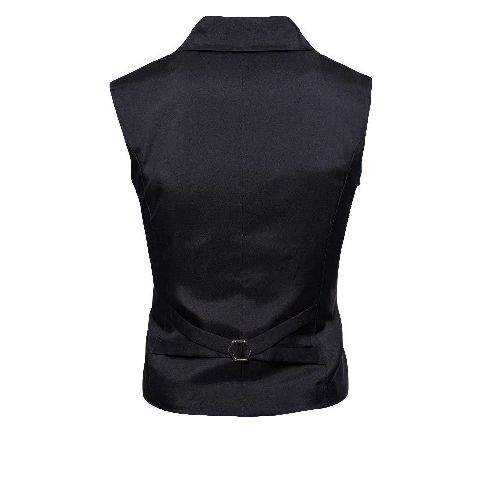Amazon.com: Sagton Men Button Casual Print Sleeveless Solid Jacket Coat British Button Suit Vest Blouse: Clothing