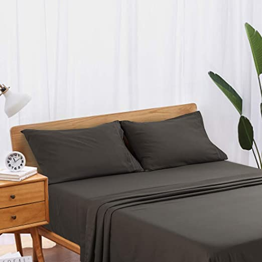 Premium Hotel Quality 4 Piece Deep Pocket Bed Sheet Set by Egyptian Comfort-Gray