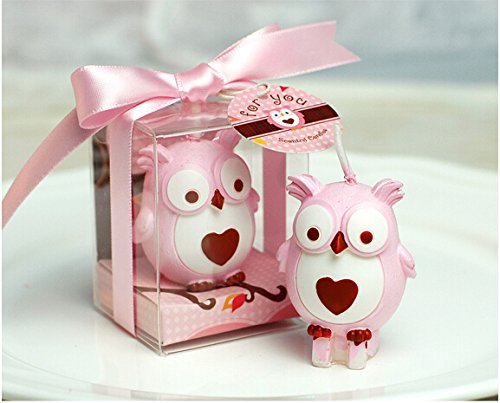 Creative Owl Candles Smokeless Candles Birthday Candles for Wedding Favor and Baby Shower (pink, 1)
