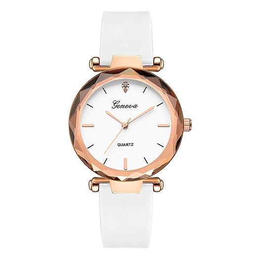 Modaworld Relojes Mujer Moda Relojes de Pulsera de Cuarzo analógico Geneva Silica Band para Señoras Fashion Reloj de Pulsera para Mujer Analógico Suede ...