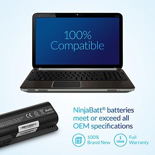 NinjaBatt Laptop Battery for HP 484172-001 485041-001 498482-001 484170-001 HSTNN-LB72 HSTNN-UB72 HSTNN-CB72 484171-001 HSTNN-Q34C – High Performance [6 Cells/4400mAh/48wh] by NinjaBatt (Image #5)