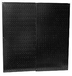 Wall Control 30-P-3232B Black Metal Pegb...