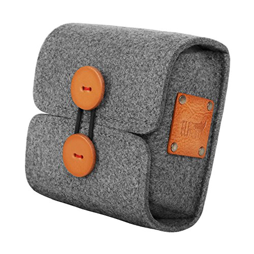 ELFRhino Wool Felt Storage Case Bag Pouch Charger Sleeve Travel Cable Electronics Accessories Organizer Compatible for MacBook Laptop Mouse Power Adapter Cables Computer Cellphone (Felt Wire)
