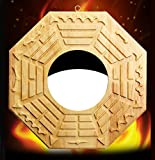 better us Feng Shui Wood Bagua Mirror 6.9 Inch (Concave)