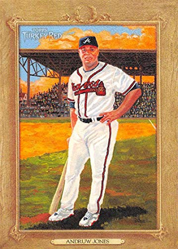 2007 Turkey Red Baseball #32 Andruw Jones Atlanta Braves Official MLB Trading Card From Topps
