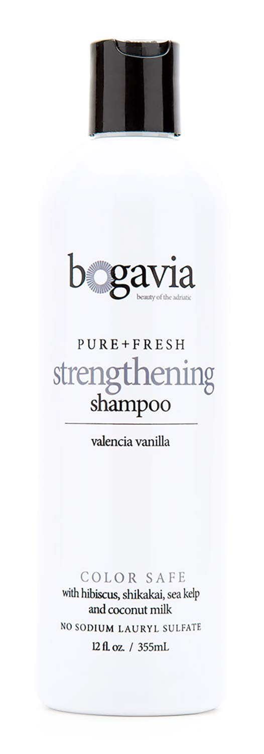 The Strengthening Shampoo, Sodium Lauryl Sulfate Free, Color Safe, For All Hair Types, Thickens, Promotes Hair Growth, Repairs, and Boosts Shine, All Natural, Vegan, Cruelty Free, Paraben Free. 12 Fl Oz