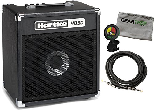 Hartke HD50 50 Watt 10'' Bass Combo w/ Geartree Cloth, Cable, and Tuner by Hartke