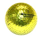 ProActive Golf Chromax M1 Golf Ball Gold Shiny 3 Balls Sleeve