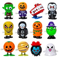 Kizcity 12 Pack Halloween Wind-up Toys for Halloween, Assorted Funny Clockwork Toys, Party Favors for Boys,Girls,Kids