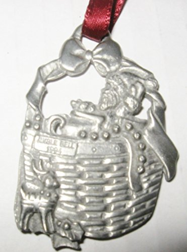 Longaberger Christmas 1994 Jingle Bell Basket Pewter Ornament ()