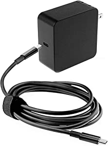 65W Type USB C AC Charger Fit for HP Spectre x360 13 13-w063nr Elite X2 1012 G1 Elitebook 840 G5 G6 ProBook 640 650 450 440 G6 Laptop Notebook Power Cord Supply Adapte