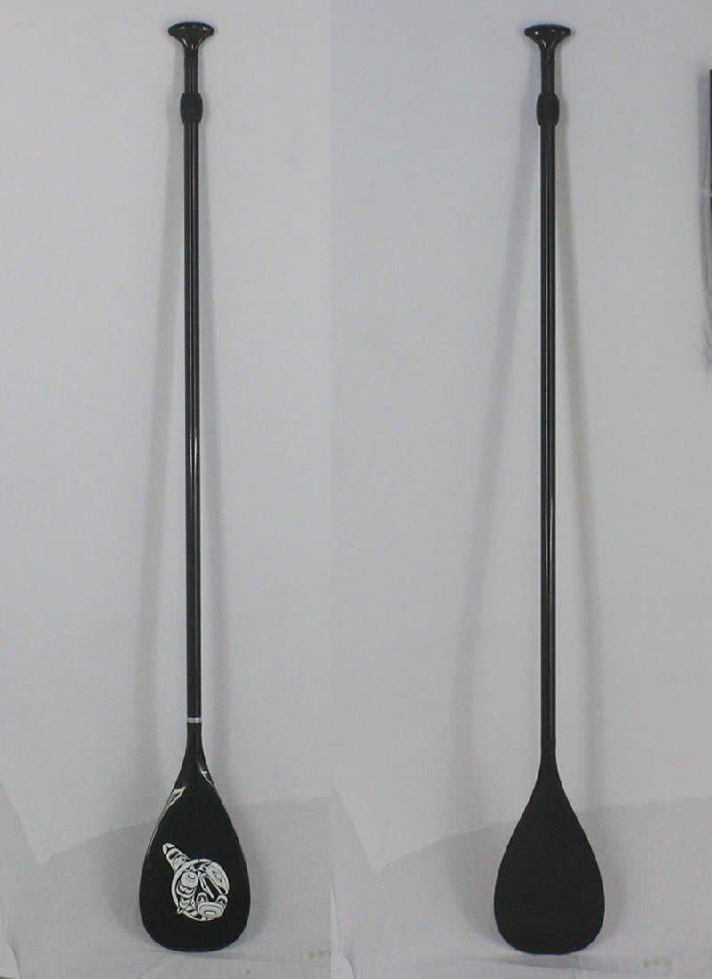 Carbon Paddle フルカーボン素材 [176-217cm] アジャスタブル 長さ調節付き 軽量700g SUP用 パドル【極上中古】 B07B3RGC9Z