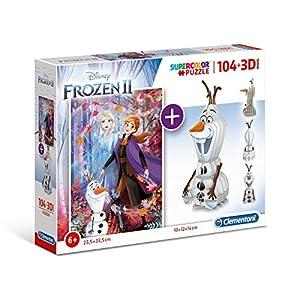 Clementoni 20170 1 Puzzle + 3D Model-Frozen 2