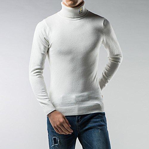 Jdfosvm männer - Pullover solid Winter männer männer Hemd, ärmel sitzende Rollkragen - Pullover Mode,weiße,XL