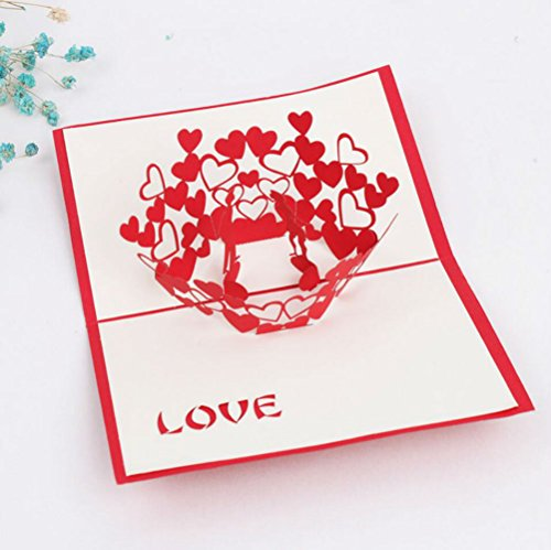 3D pop-up Love Greeting Cards Wedding & Baby Shower Greeting Card (96) by Cute rabbit