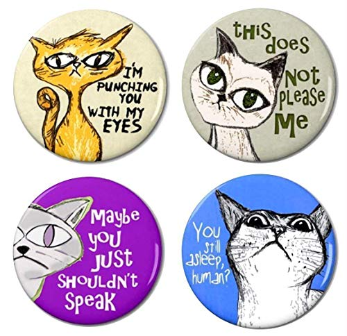 Cat Magnet Set 1 by Pithitude - Bossy Cats - Pack of 4