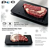 Powerocean Fast Defrosting Tray - The Safest Way to Defrost Meat or Frozen Food Quickly Without Electricity, Microwave, Hot Water or Any Other