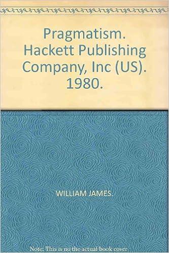 Amazon.com: Pragmatism. Hackett Publishing Company, Inc (US ...