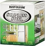 Rust-Oleum Stainless Steel Paint Kit Indoor, Outdoor Metallic 30 Fl.Oz.