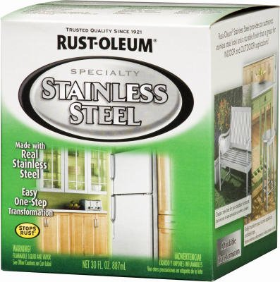 Rust-Oleum Stainless Steel Paint Kit Indoor, Outdoor Metallic 30 Fl.Oz.