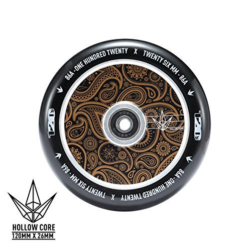 Hollow Core - Envy Scooters Hollow Core Wheels 120mm (Pair) (Gold Bandana)