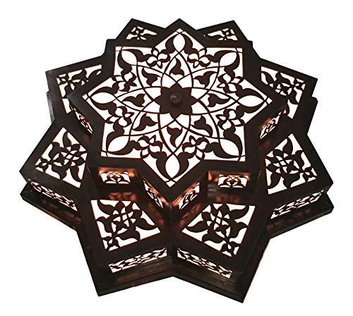 (BM5 Antique Reproduction Moroccan Star Chandelier Flush Ceiling Light Fixture)