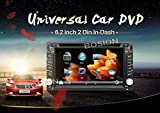 Bosion 2015 Lowest noisy 6.2-inch Double DIN Gps Navigation for Universal Car Free Backup Camera& Map card