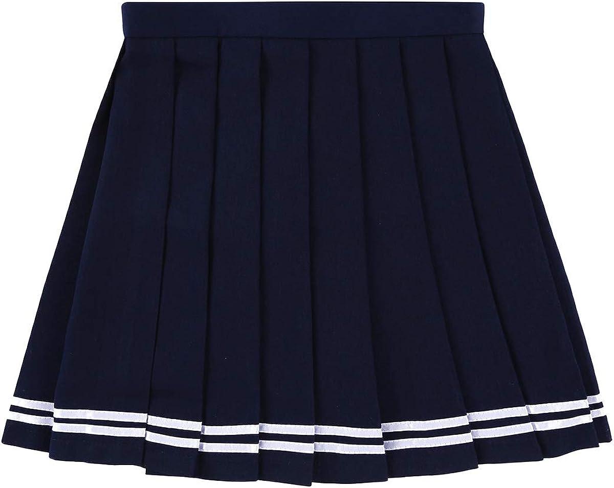 CHICTRY Mujer Falda Escocesa Plisada Uniforme Escolar Japón Falda ...