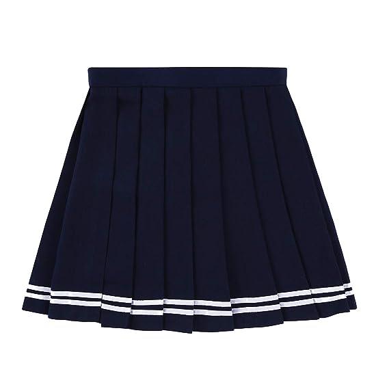8d38dd336 Agoky Falda Plisada Japonesa Niña Chica Mujer Falda Escolar Cintura ...
