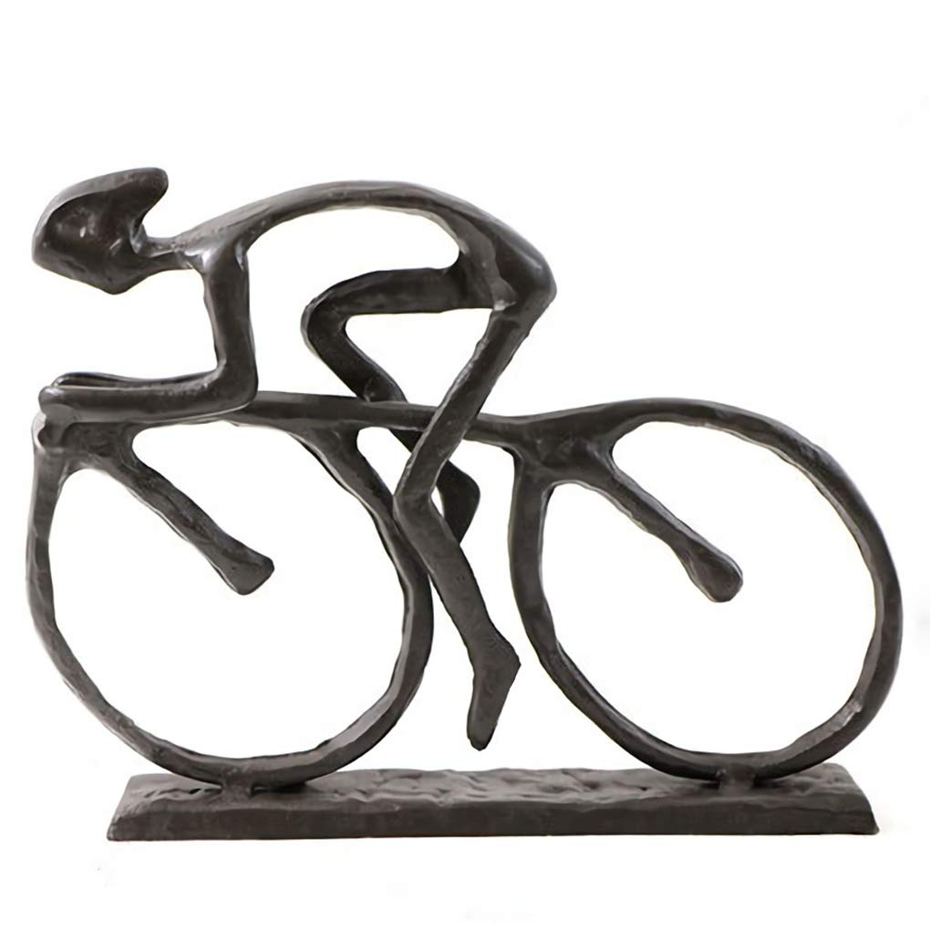 Cast Iron Art Sculpture Home Decoration Statue for The Bicycle Enthusiast Metal Figurine Art Home Décor for Runner Sportsman Cyclist Bicycle Enthusiast (4# Cyclist)