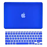TOP CASE - 2 in 1 Bundle Deal Rubberized Hard Case Cover and Matching Color Keyboard Cover Compatible with Apple MacBook Air 11