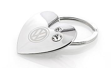 Volkswagen cromado con forma de corazón llavero con logo ...