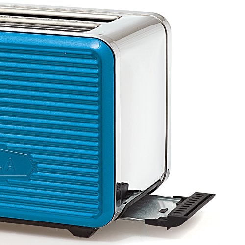 BELLA LINEA 2 Slice Toaster with Extra Wide Slot, Color Teal by BELLA (Image #1)