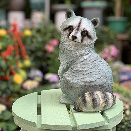 庭の装飾品シミュレーション動物アライグマ防水庭庭風景芝生装飾工芸品ギフト-24 * 17 * 29 cm A