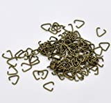 PEPPERLONELY Brand 500PC Antiqued Bronze Triangle Pinch Bails Jump Rings 10x9mm, 17 Gauge
