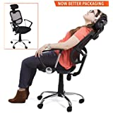 ProErgo Ergonomic Office Chair – Supports over 300 lbs. – Comfort Mesh Back w/ Lumbar Support – Fully Adjustable Headrest + Armrests & Casters - Perfect office chair or home office chair! (Black)