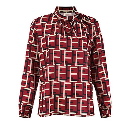 Blouse Maniche Stampa Valentino Rosso Per Ragazza Manica Lunga Donna Casual shirt San Cotone Camicetta Lunghe Shirt T Moda Ihengh Girocollo Estate Top 5AjL3R4